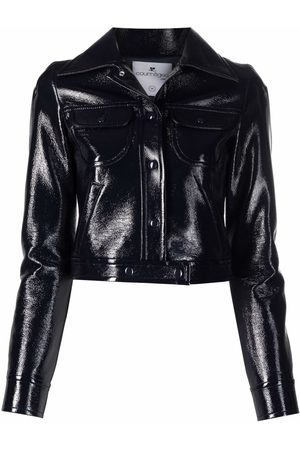 Courrèges Women Leather Jackets - Cropped faux leather jacket