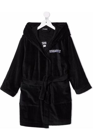 Dsquared2 Boys Bathrobes - Embroidered-Icon robe