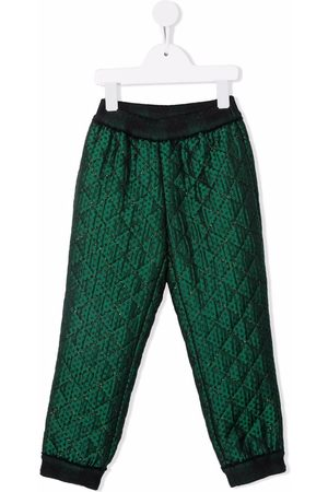 Mimisol Quilted-effect trousers