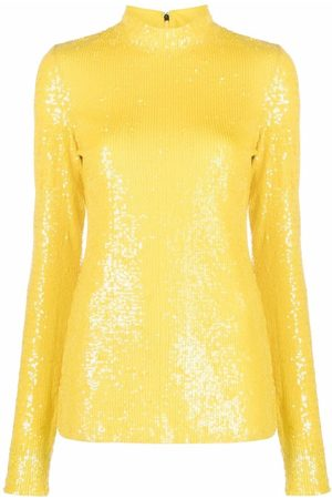 Msgm Women Long Sleeve - All-over sequin long-sleeve top