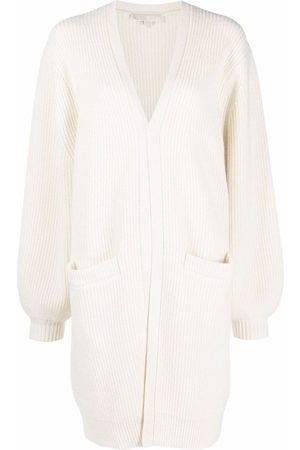 Michael Kors Open-front ribbed knit cardigan