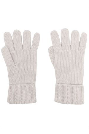 N.PEAL Chunky-knit organic-cashmere gloves