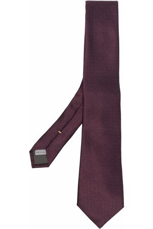 CANALI Embroidered silk tie