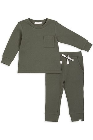 FIRSTS by petit lem Baby Tracksuit - Baby Boy's 2-Piece Petit Lem Firsts Top And Pants Set