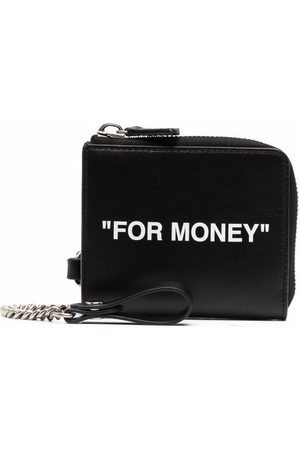 OFF-WHITE Quote-print compact wallet