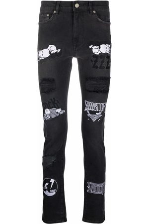 Iceberg Patch-detail skinny-cut jeans