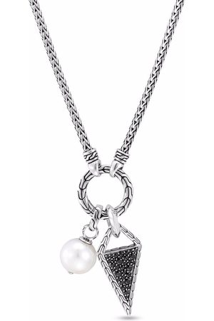 John Hardy Classic Chain sapphire, spinel and pearl amulet pendant necklace