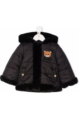 Moschino Padded faux fur-trimmed coat