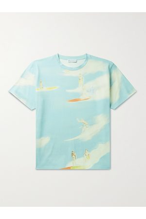 J.W.Anderson Logo-Embroidered Printed Cotton-Jersey T-Shirt