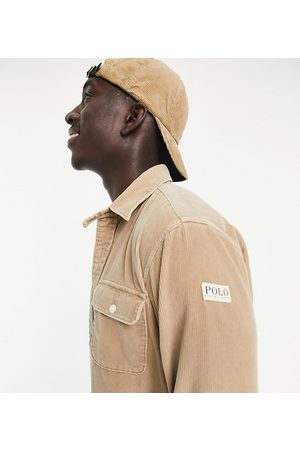 Polo Ralph Lauren X ASOS exclusive collab cord overshirt in tan with pockts and arm tab logo