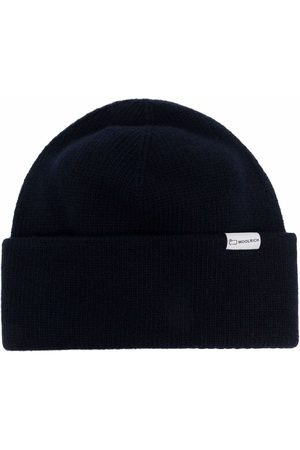 Woolrich Logo-patch knitted beanie