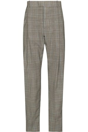 Alexander McQueen Check-pattern tailored trousers