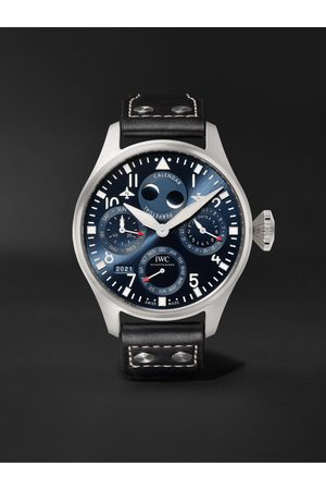 IWC SCHAFFHAUSEN Big Pilot's Automatic Perpetual Calendar 46.2mm Stainless Steel and Leather Watch, Ref. No. IW503605