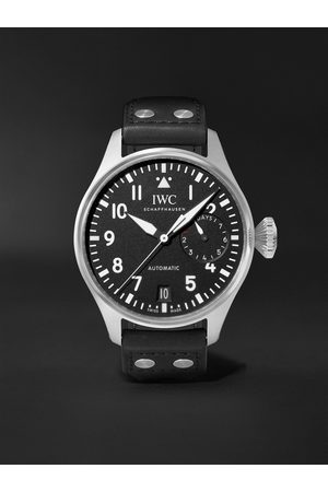 IWC SCHAFFHAUSEN Men Watches - Big Pilot's Automatic 46.2mm Stainless Steel and Leather Watch, Ref. No. IW501001