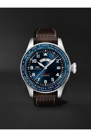 IWC SCHAFFHAUSEN Pilot's Watch Timezoner Le Petit Prince Limited Edition Automatic 46mm Stainless Steel and Leather Watch, Ref. No. IW395503