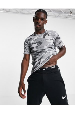 Nike Camo all over print t-shirt in