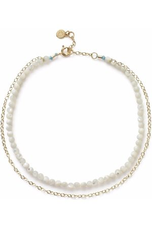 The Alkemistry 18kt yellow mother-of-pearl anklet