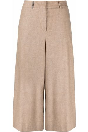 PESERICO SIGN High-waisted knitted culottes