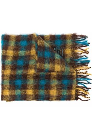 Andersson Bell Men Scarves - Gingham-check fringed scarf