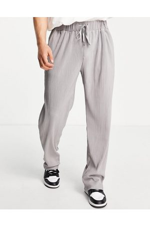 Mennace Plisse ribbed trousers in