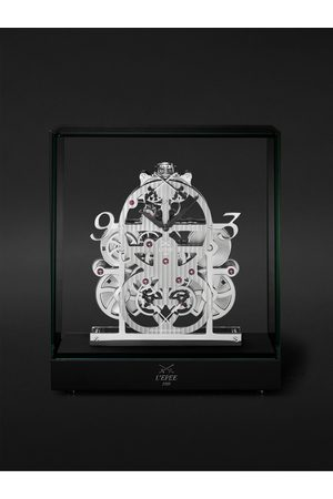 L'Épée 1839 Le Duel II Limited Edition Hand-Wound Palladium-Plated Table Clock, Ref. No. 76.6001/101