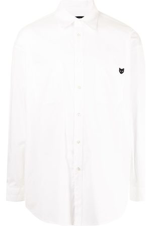 ZZERO BY SONGZIO Logo-embroidered longsleeved shirt