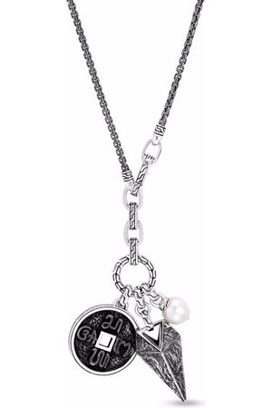 John Hardy Necklaces - Classic Chain reticulated amulet pendant necklace
