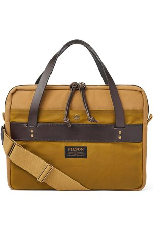 Filson Men Laptop Bags - Rugged Twill Compact Briefcase Tan