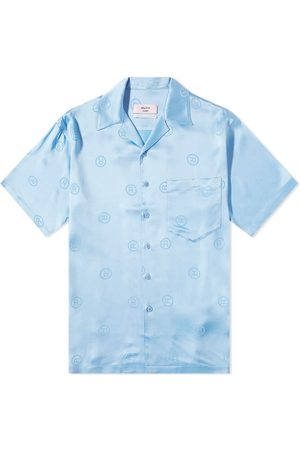 MARTINE ROSE Men Casual - Oversize All Over Logo Vacation Shirt
