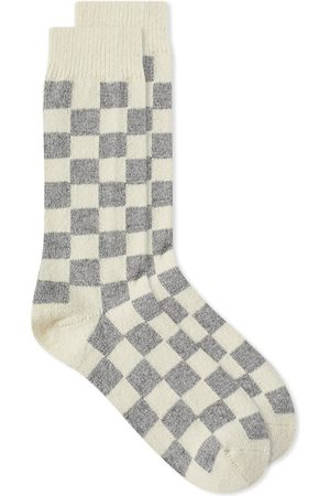 RoToTo Recycled Wool Checkerboard Crew Sock