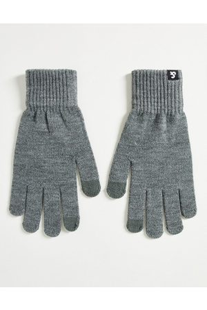 JACK & JONES Knitted touch screen gloves in