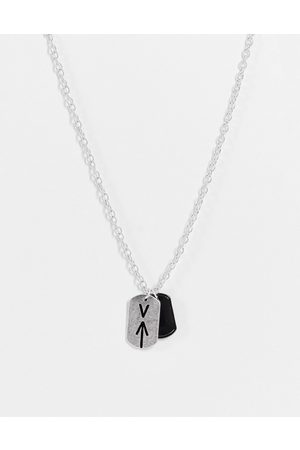Icon Brand Double dog tag pendant in
