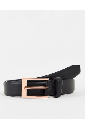 French Connection Rose gold buckle belt in