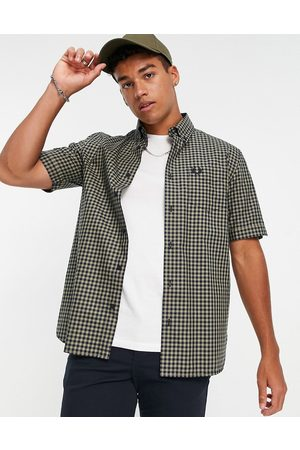 Fred Perry Gingham short sleeve shirt in sage