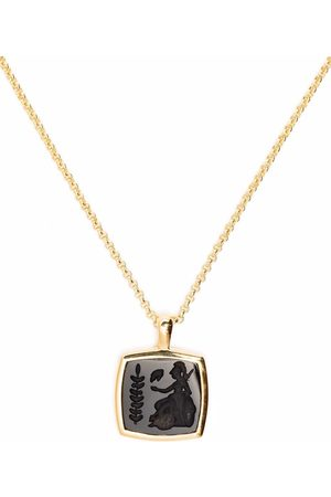 TOM WOOD Necklaces - 9kt -plated sterling silver Athena onyx necklace