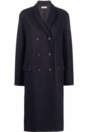 There Was One Double-breasted long button-front coat