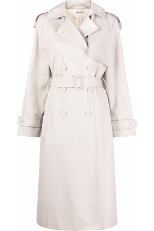 There Was One Belted double-breasted trench coat