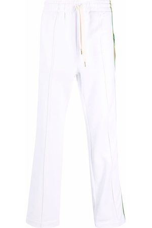 Casablanca Men Tracksuit - Embroidered-logo striped joggers