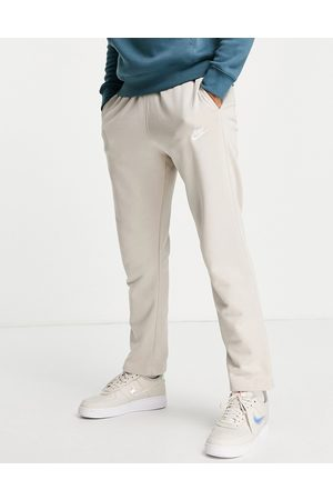 Nike Club french terry straight fit joggers in stone