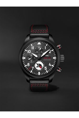 IWC SCHAFFHAUSEN Men Watches - Pilot's Tophatter Automatic Chronograph 44.5mm Ceramic and Leather Watch, Ref. No. IW389108