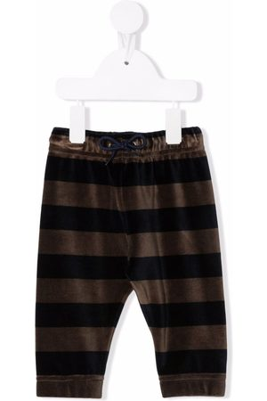 Paul Smith Baby Leggings - Striped logo-patch track pants