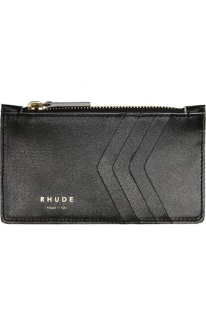 Rhude Leather Zip-Up Card Holder