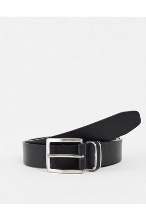 French Connection Leather detail keeper belt in