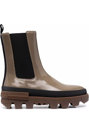 Moncler Elasticated-panels leather boots