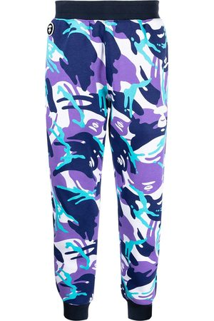 AAPE BY A BATHING APE Men Pants - Graphic-print track trousers