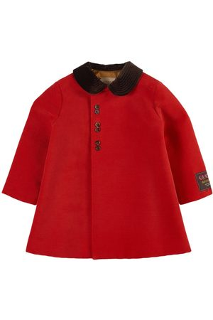 Gucci Long Sleeve Button Coat with Collar