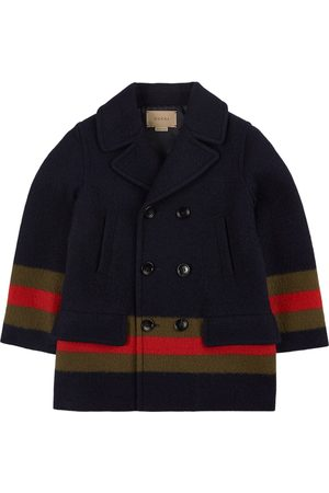 Gucci Navy Stripe Double Breasted Coat
