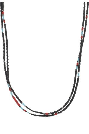 """M. COHEN 30"""" Stacked Mini Bead Necklace"""