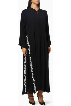 Rauaa official Embroidered Abaya in Crepe