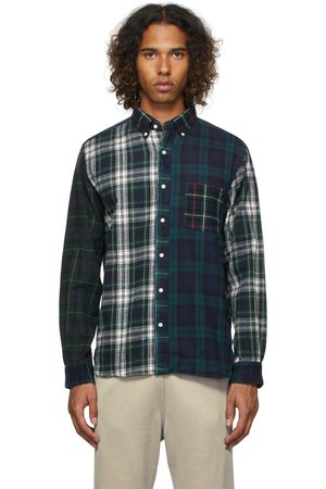 BEAMS PLUS Paneled Nell Shaggy Button-Down Shirt